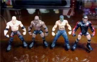 SET OF 10pc MINI WWE WRESTLING FIGURES Randomly