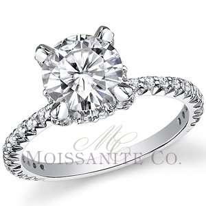 Designer Inspired Round Brilliant Moissanite Engagement Ring [eng819]
