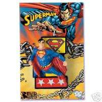 SUPERMAN Super Man Birthday Party Cake Topper Candle