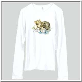 Kitten & Teacup Kitty Cat Cute WOMENS SHIRTS S XL,2X,3X