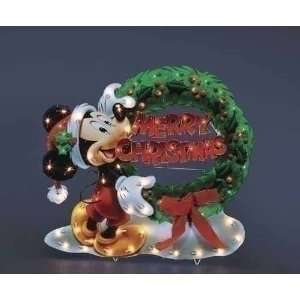 30 Disney Mickey Mouse with Merry Christmas Wreath