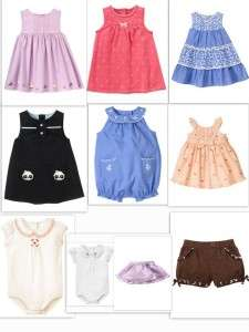 Gymboree Panda Kitties summer Top Outfit Skirt SET 0 3