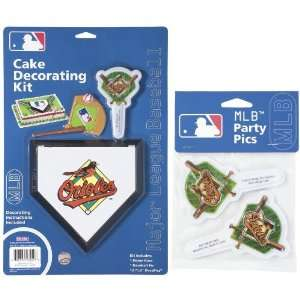 Baltimore Orioles Lay on Cake/Cupcake Decorations Sports & Outdoors