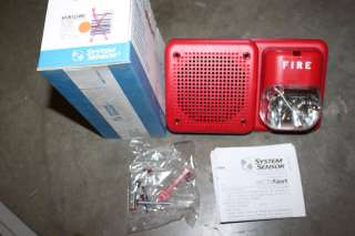 SYSTEM SENSOR SP2R1224MC RED FIRE ALARM SPEAKER STROBE