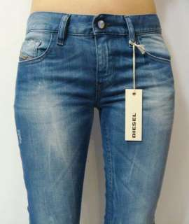 NWT Diesel Livy Super Skinny Fit Blue Stretch Jeans 8C2