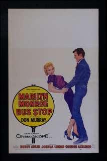 BUS STOP *ORIG WINDOW CARD MOVIE POSTER MARILYN MONROE