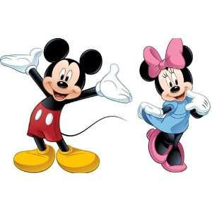 com Mickey Mouse and Minnie Mega Decal Pack   Includes 1 Giant Mickey