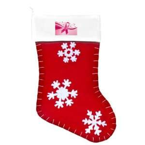 Felt Christmas Stocking Red Cancer Pink Ribbon Waves: Everything Else