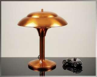 Stunning 1930s French ART DECO Machine Age TABLE LAMP Desk Light