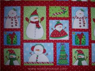 Timeless Treasures Snowman Christmas Tree Fabric Panel