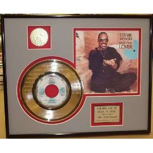 STEVIE WONDER ETCHED GOLD RECORD LIMITED EDITION DISPLAY