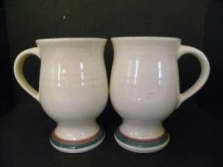 Pfaltzgraff JUNIPER Tall Coffee Cup Mug Latte Set 2 LOT
