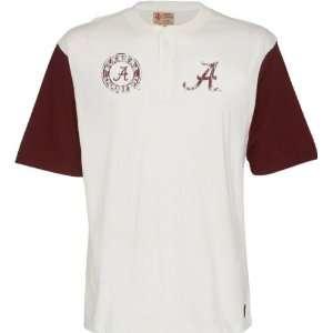 Alabama Crimson Tide Old School Short Sleeve Baseball T Shirt