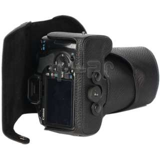 Leather Case Bag Prouch for CANON EOS 500D 500 D Digital Camera black