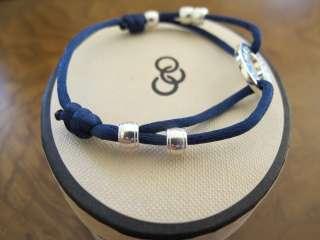 GENUINE Links of London Navy Blue Silk Cord & Silver Friendship