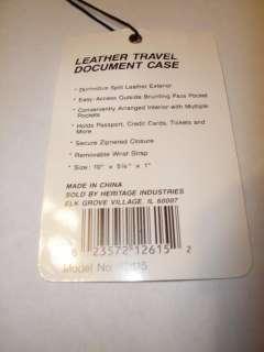Black Leather Travel Document Case.