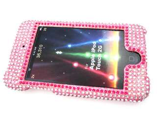 iPod Touch 23 Crystal Rhinestone Pink Fleur De Lis Case