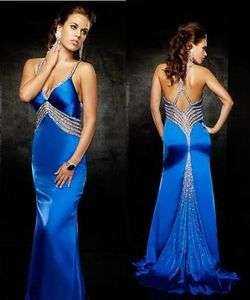 Spaghetti Straps Backless Bridal Bridesmaid Wedding Gown Prom Ball