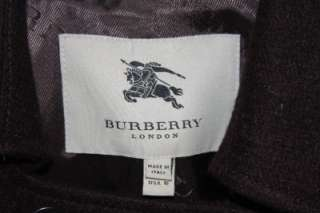 Burberry Chocalate Brown Cashmere/Wool Crop Coat Cape 10
