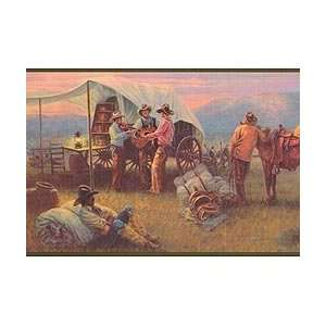 Cowboy Chuckwagon Wallpaper Border: Kitchen & Dining