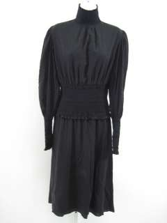 CATHERINE MALANDRINO Black Long Sleeve Dress Sz 6