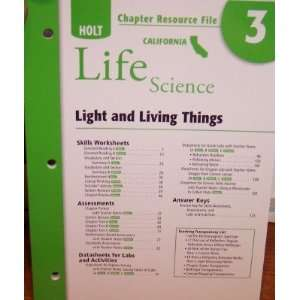 Chapter Resource File 3 Light and Living Things