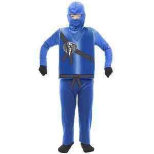 Lets Party By Charades Blue Ninja Child Costume / Blue   Size Medium