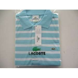 Brand New Lacoste Mens Stripe Polo Shirt (Large Size.6