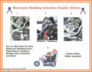 Motorcycle Biker Wedding Invitations Supplies Favors