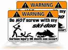Funny Ski Doo warning sticker Snowmobile mountain sled