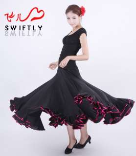 Latin salsa flamenco Ballroom Dance Dress #M064 skirt