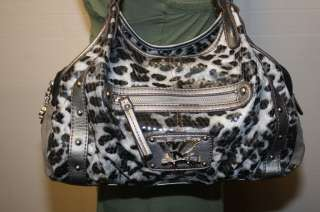 KATHY VAN ZEELAND SYNTHETIC EMBOSSED MULTI ANIMAL PRINT TOTE BAG
