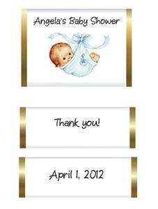 24 Baby Shower Favor Tags   Shaped Like Baby Onesie   Super Cute
