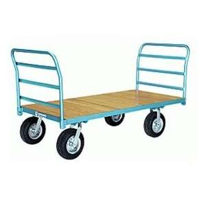 Platform Truck 30x48 Wood Deck Pneumatic Wheels 2000 Lbs