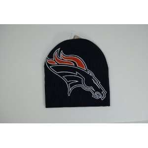 Denver Broncos Navy Blue Big Logo Beanie Cap Winter Hat