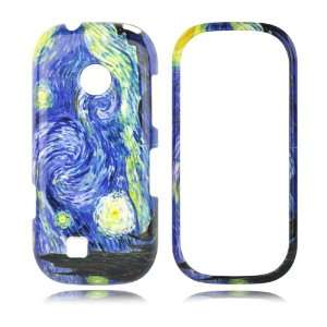LG VN251 Cosmos II 2 Snap On Phone Shell Case (Starry Night) + Clear
