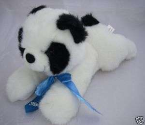 SKM Enterprises Plush Panda BEAR 14AAA Blue Ribbon Bow