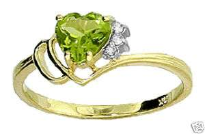 Gemstone Real Diamonds Ring 14K Solid Gold size 7 Sizeable