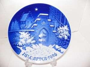 Bing Grondahl 1986 Juleplatte Silent Night COA Christma