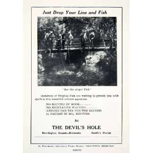 1947 Ad Devils Hole Tropical Fishing Fishermen Smith