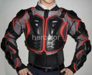 Motorcycle Sexy Full Body Armor Biker Racing Jacket Red