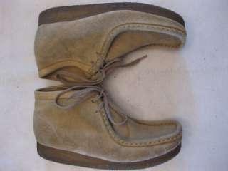 Clarks Wallabees Sand high boots 7.5 M 35385 womens tan