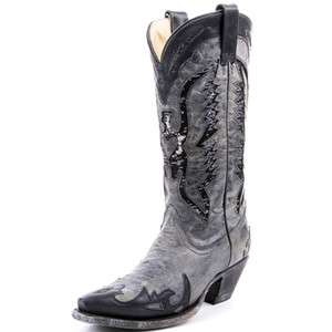 Corral Ladies Black Sequin Eagle Inlay Boot R1003 NIB