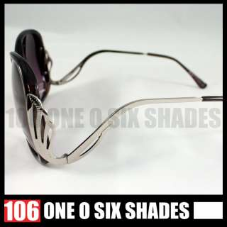 OVERSIZED Retro Sunglasses Celebrity Style BLACK New