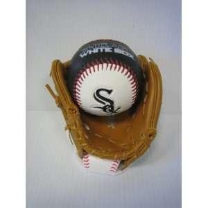 Officially Licensed MLB Chicago White Sox Ball & Glove
