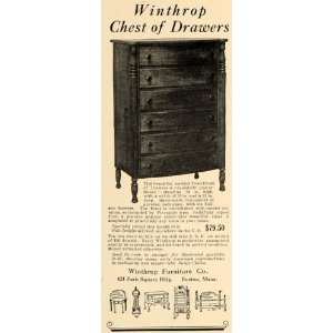 1927 Ad Winthrop Furniture Company Dresser Chest Drawer