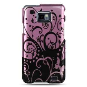 Purple crystal case with black swirl design for the Samsung Galaxy S