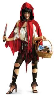 adult red riding costume riding hood evil horror halloween M