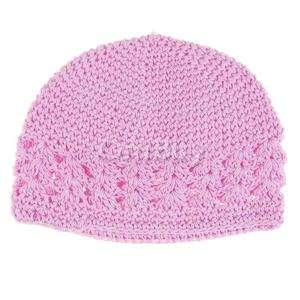 Cute Pink Baby Kids Knit Crochet Beanie Skull Hat Cap