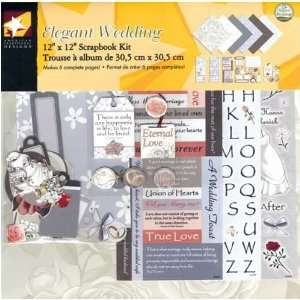Scrapbook Page Kit 12X12 Elegant Wedding Home